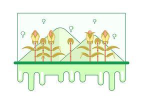 illustration vectorielle de tige de maïs vecteur