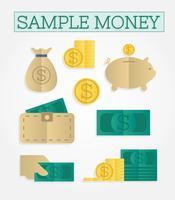 Vecteur gratuit de l'argent échantillon