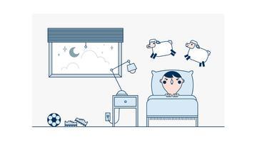 Free-Going-to-Bed-vecteur vecteur