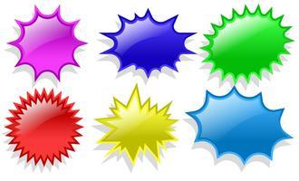 Vecteur série d'étiquettes Flash prix