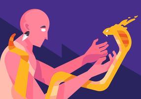 Chaman et serpent vecteur