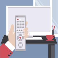 Vector TV Illustration à distance
