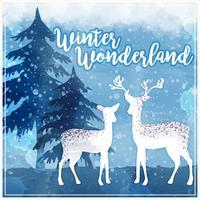 illustration vectorielle hiver pays des merveilles vecteur