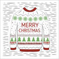 Illustration de Noël vecteur dessinés à la main libre
