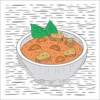 Illustration de soupe vecteur dessinés à la main libre