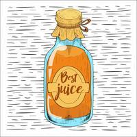 Illustration de bouteille de vecteur dessiné à la main libre
