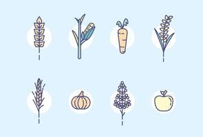 Vecteur de plantes de ferme