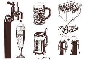 Set de Vector Silhouette de bière