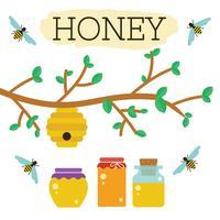 Vecteur libre de miel de ruche