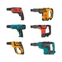 Collection d'éléments vectoriels outils pneumatiques