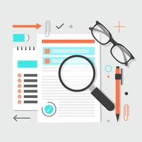 Éléments et icônes libres de bureau Design plat Vector