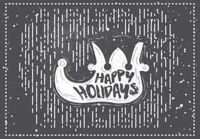 Carte de voeux de vecteur de Noël dessiné à la main libre