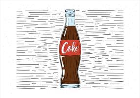 Illustration de coke dessiné à la main libre vecteur