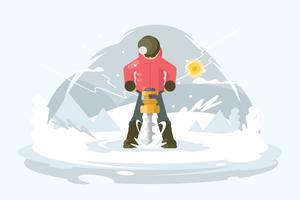 Illustration de la tarière vecteur