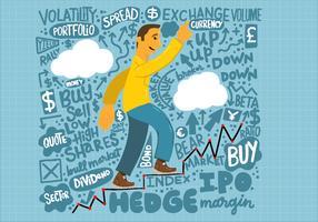 Finances graphique lettrage homme vecteur