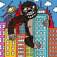 Vecteur de gorille en colère géant