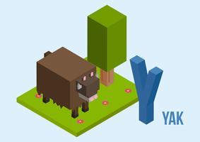 Vecteur de Yak emblématique gratuit