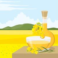 Vecteur gratuit de l'huile de canola