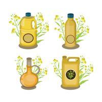Collection d'huile de canola vecteur