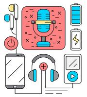 Icônes de divertissement audio gratuit