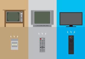 TV à distance par l'ère vecteur libre