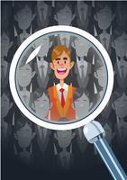 Concept de recherche d'emploi Choix d'emploi vecteur