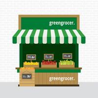 Concession de marchand de légumes vecteur libre