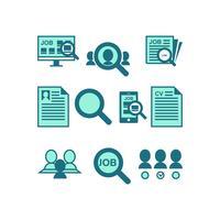 Vecteur d'icône de recherche d'emploi gratuit