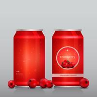 Modèle de boisson de canneberge de soda vecteur