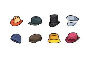 Collection d'icônes de chapeau vecteur