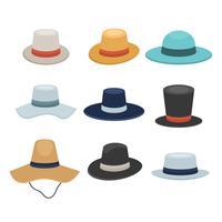 Collection de chapeau de Panama gratuit vecteur