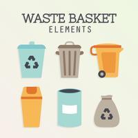 Vecteur de panier de déchets gratuit