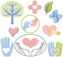 Vecteurs de guérison naturels gratuits vecteur