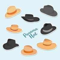 Vecteur de chapeau de Panama