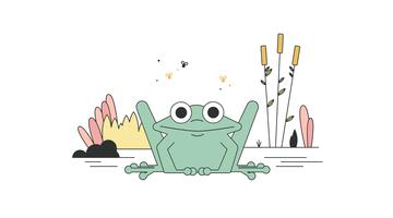 Vecteur de grenouille gratuit