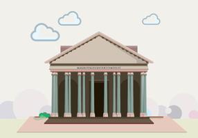 Le Panthéon de Damas vecteur