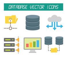 Icônes vectorielles de base de données