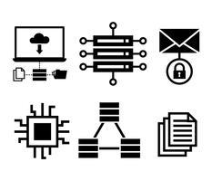 Icônes vectorielles de base de données vecteur