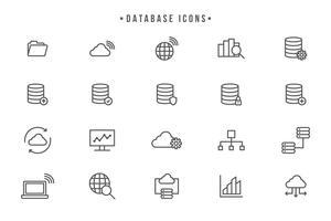 Vecteurs de base de données gratuits vecteur