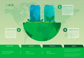 Recycler et réutiliser la boîte en fer blanc et autres déchets vecteur
