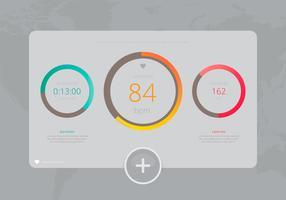 Heart Rhythm Monitor dans l'application mobile. vecteur