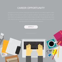 Modèle de recherche d'emploi et de publicité de carrière vecteur