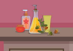 Illustration vectorielle de jojoba huile