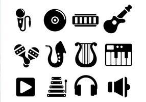 Vecteur d'instruments de musique