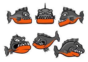 vecteur de badge piranha