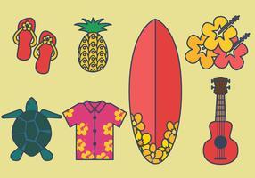Ensemble de vecteur de Hawaii