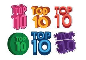 Top 10 ensemble de vecteurs