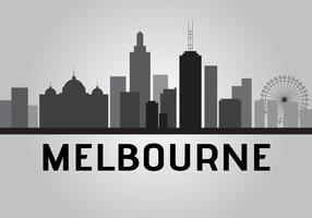 Skyline de Melbourne vecteur