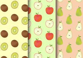 Modèles de fruits mignons gratuits vecteur