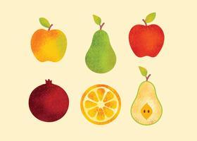 Vecteur gratuit de fruits sains